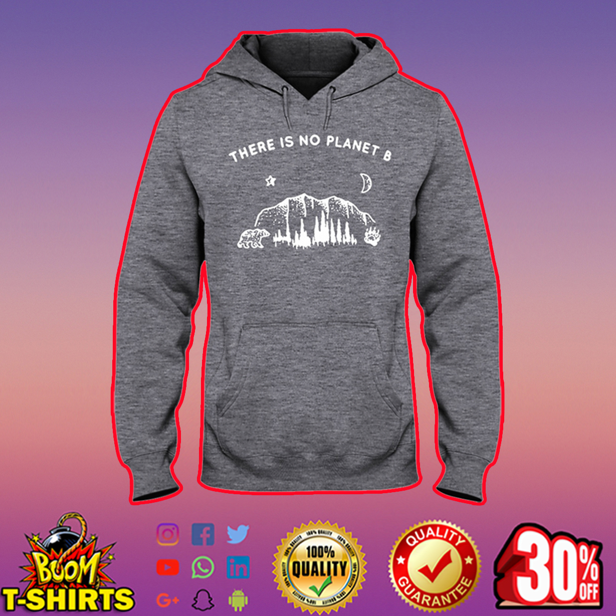 There is no planet B hooded sweatshirt