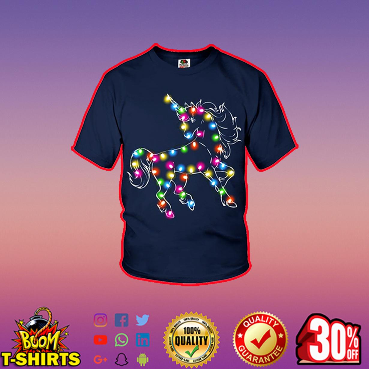 Unicorn Color LED Light youth t-shirt