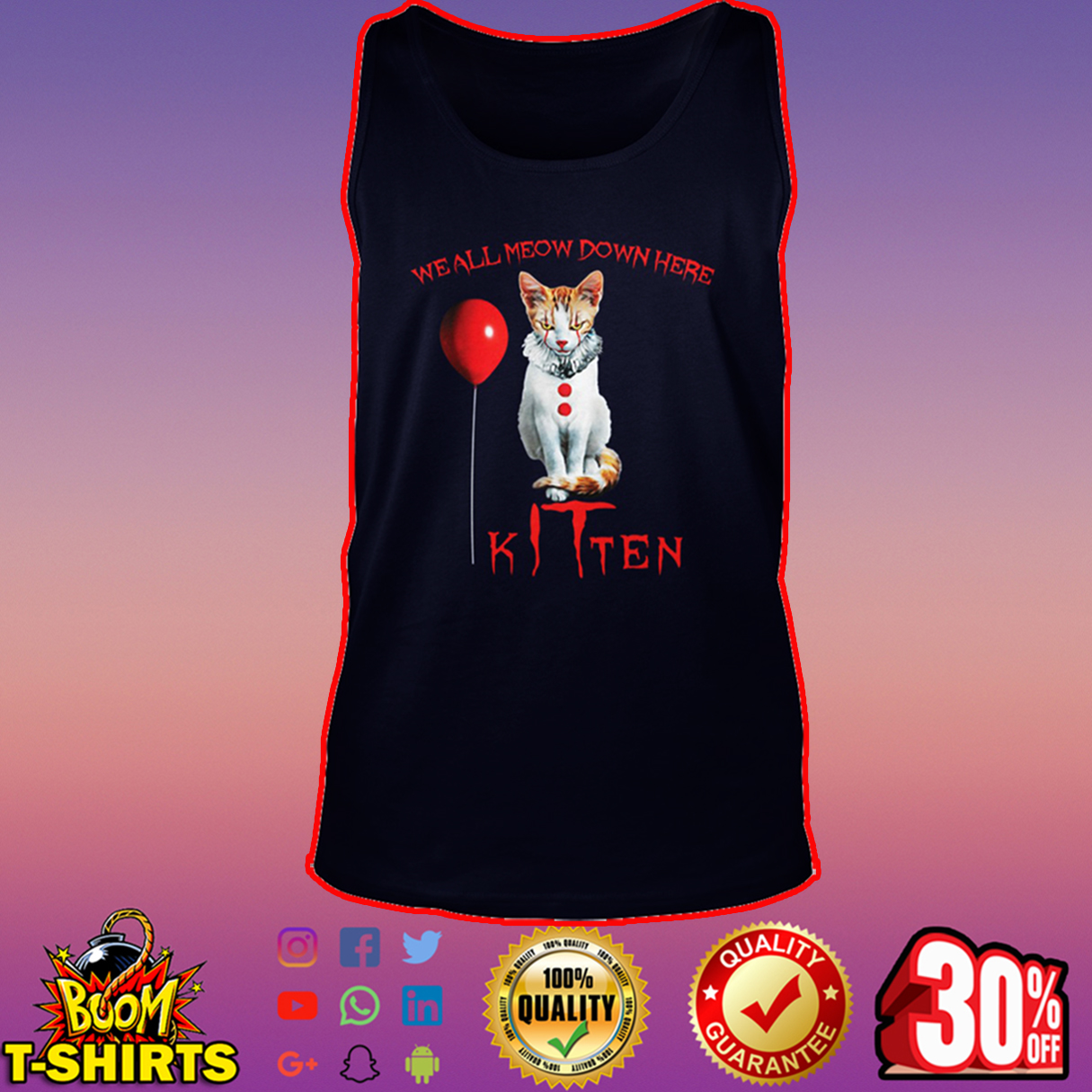 We all meow down here kitten tank top