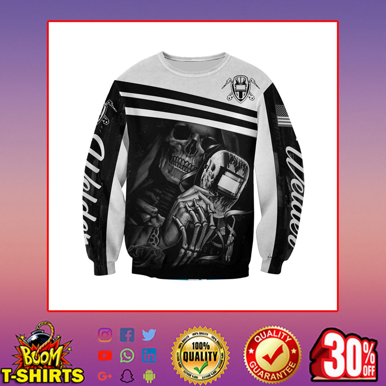 Welder skull skeleton 3d printed hoodie, t-shirt, zip hoodie - sweatshirt 3d