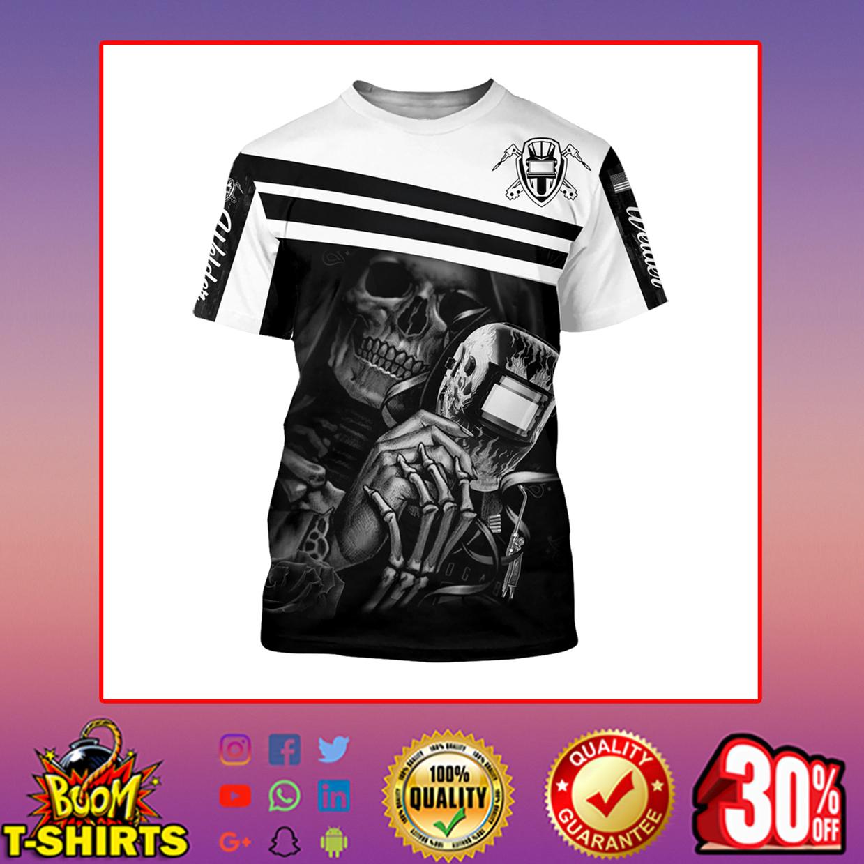 Welder skull skeleton 3d printed hoodie, t-shirt, zip hoodie - t-shirt 3d