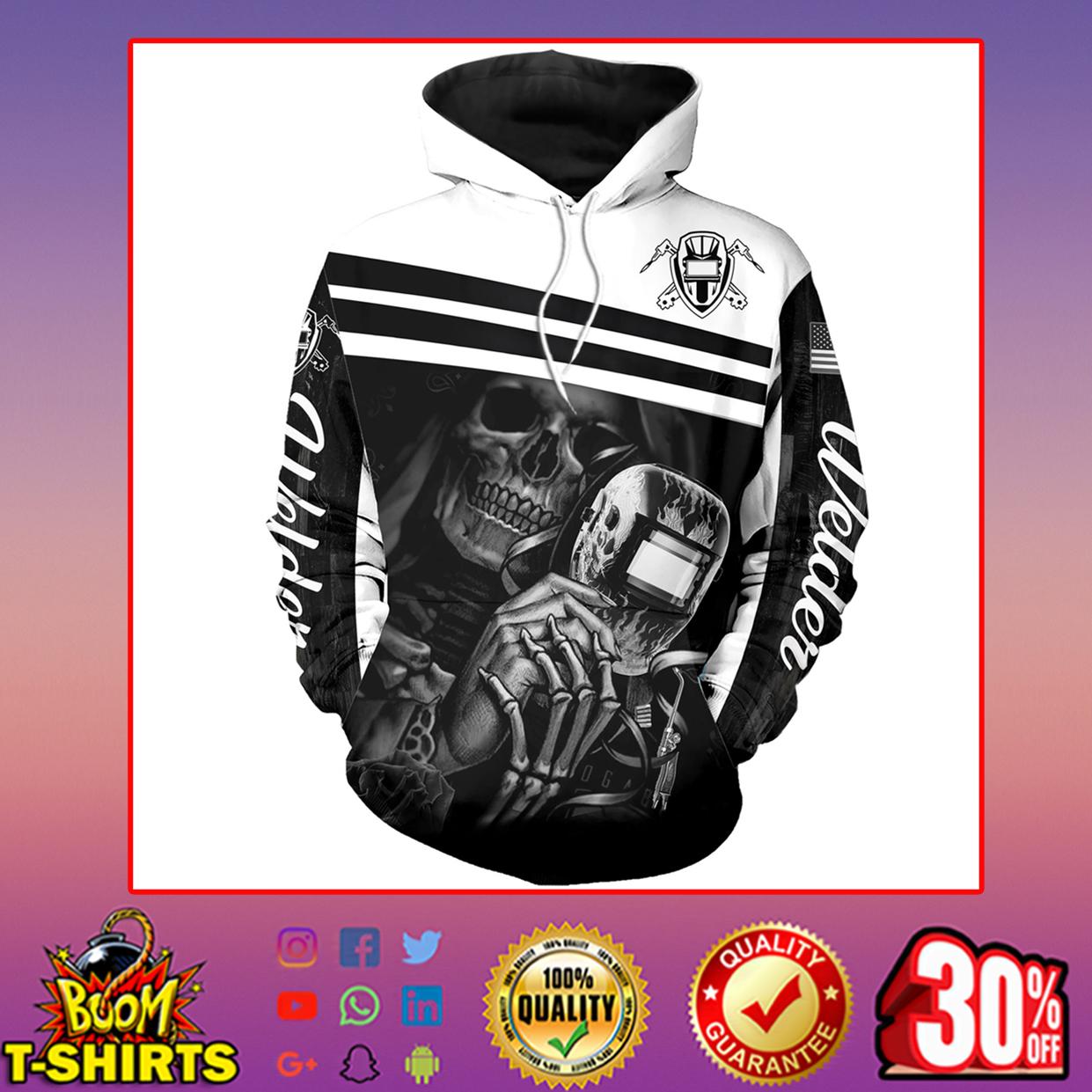 Welder skull skeleton 3d printed hoodie, t-shirt, zip hoodie