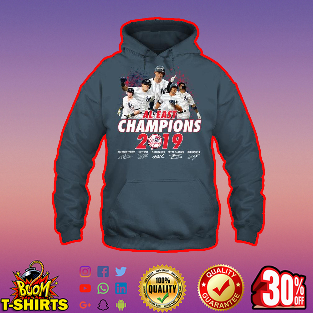 Yankees AL east champions 2019 signature hoodie
