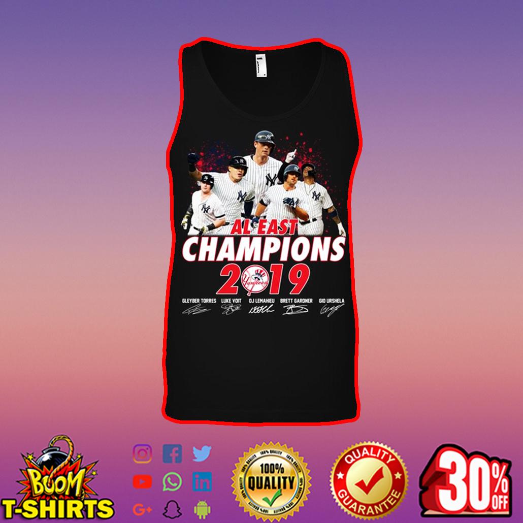 Yankees AL east champions 2019 signature tank top
