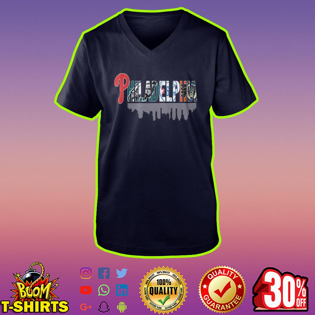 All Sport team in Philadelphia logo v-neck