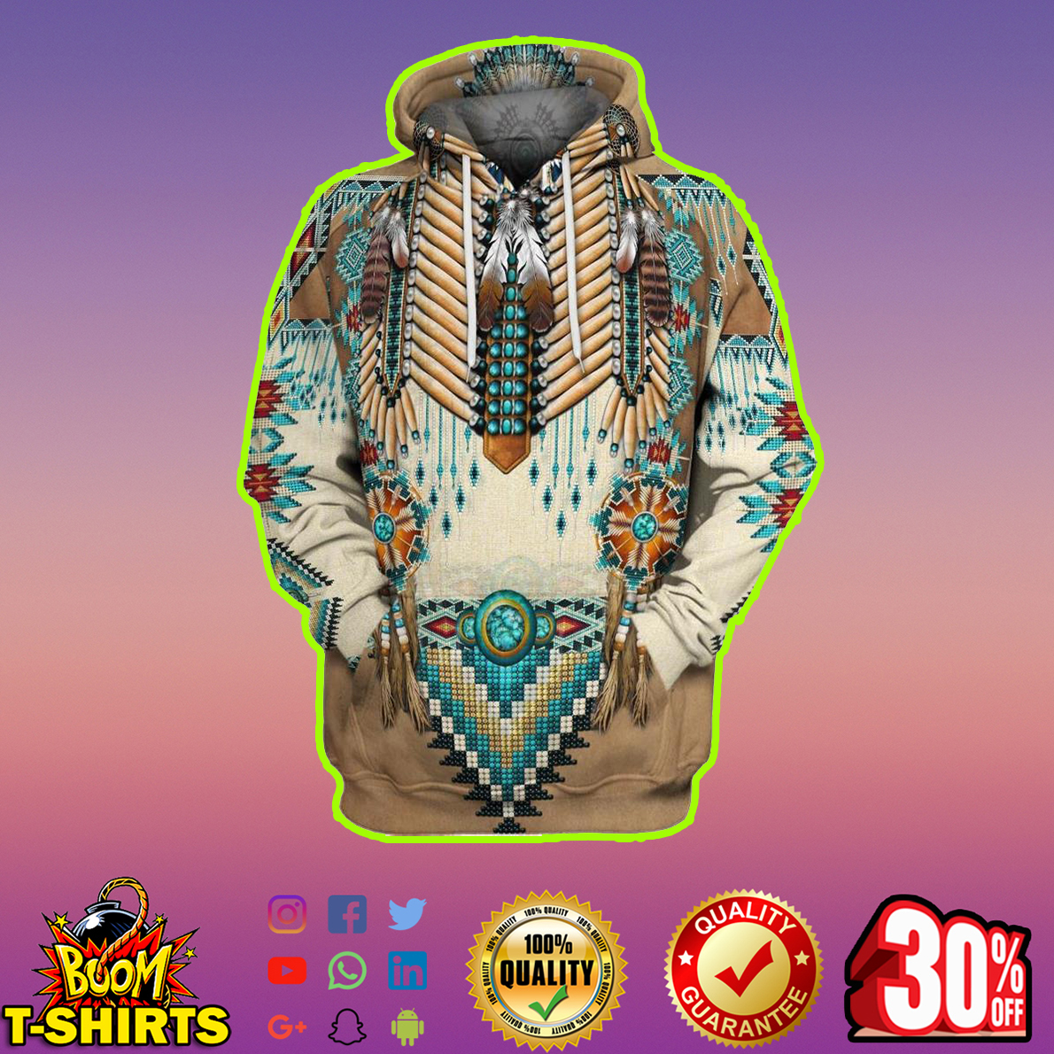 Apache Warrior 3d Hoodie