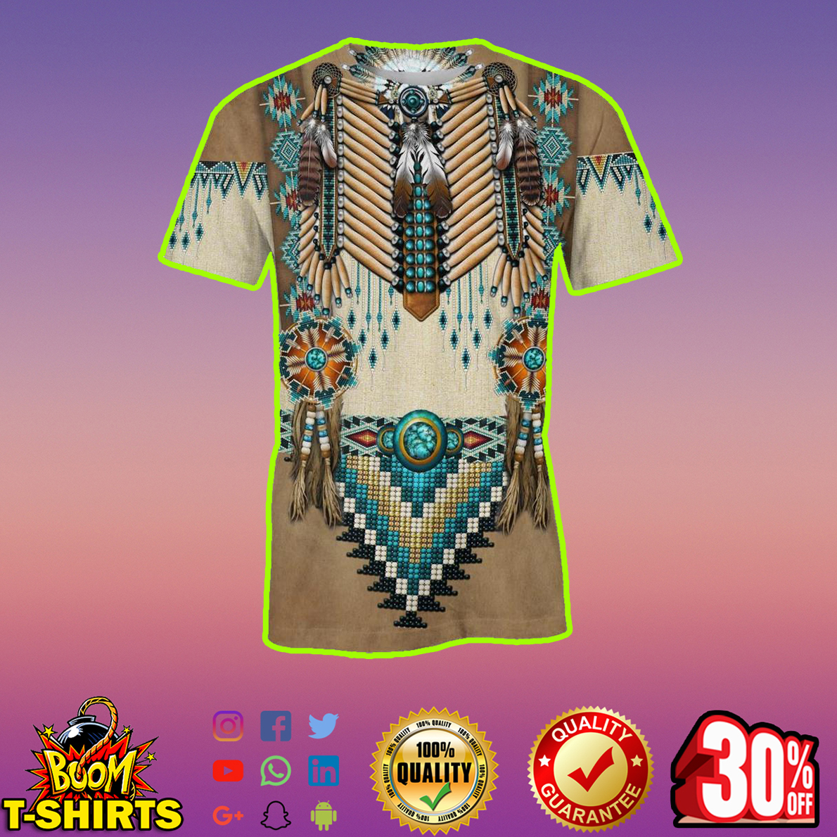 Apache Warrior 3d t-shirt