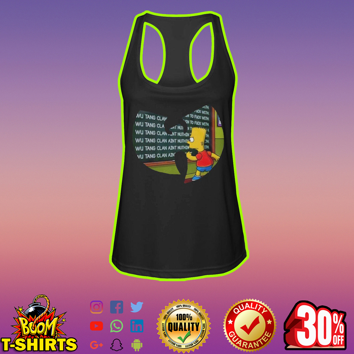 Bart Simpson Wu-Tang Clan tank top