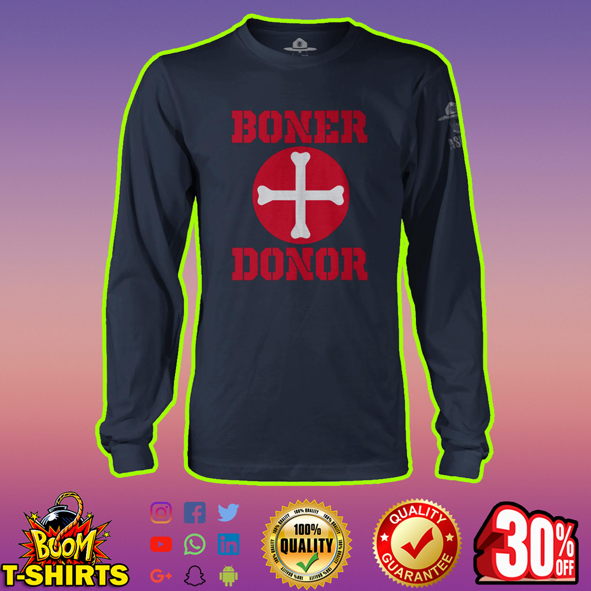 Boner Donor Halloween long sleeve tee