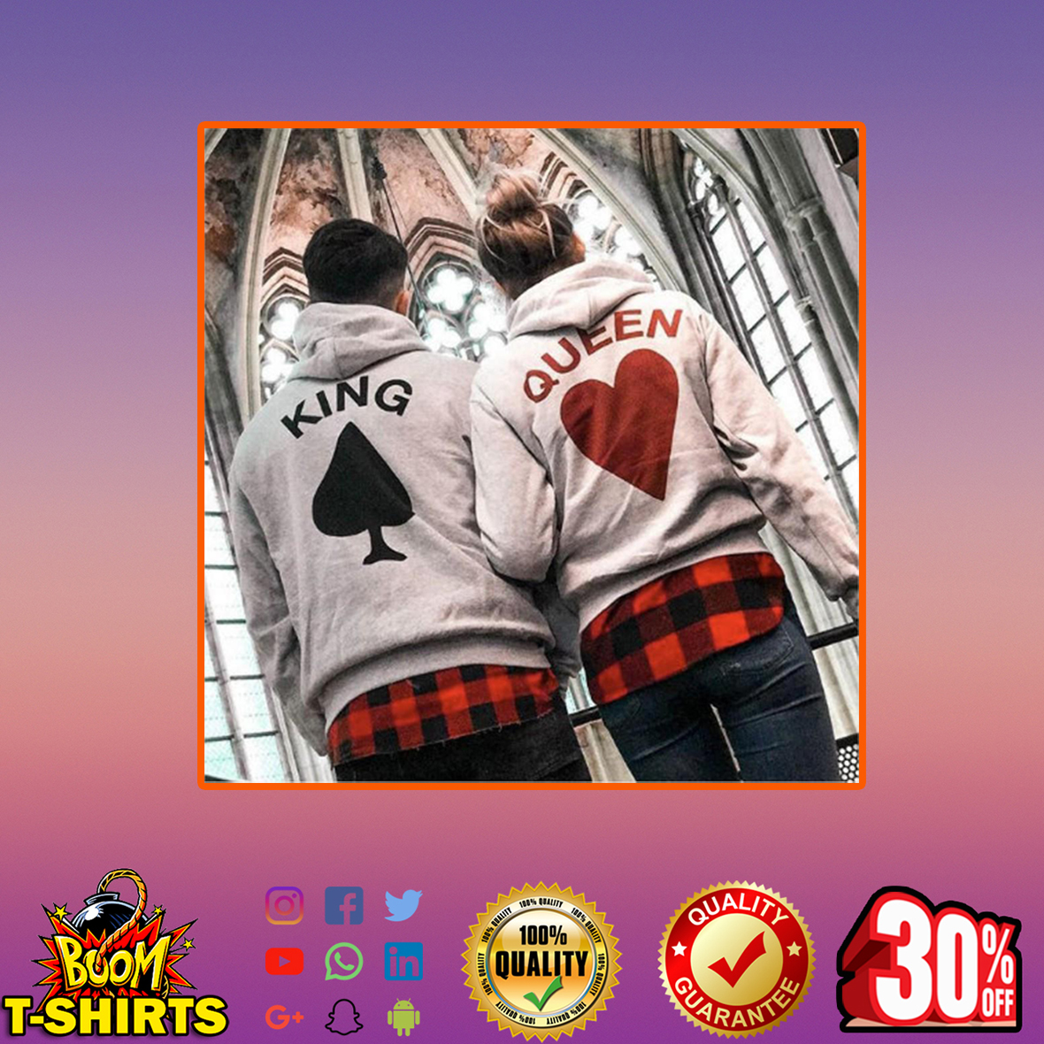 Card King and Queen Hoodies- S