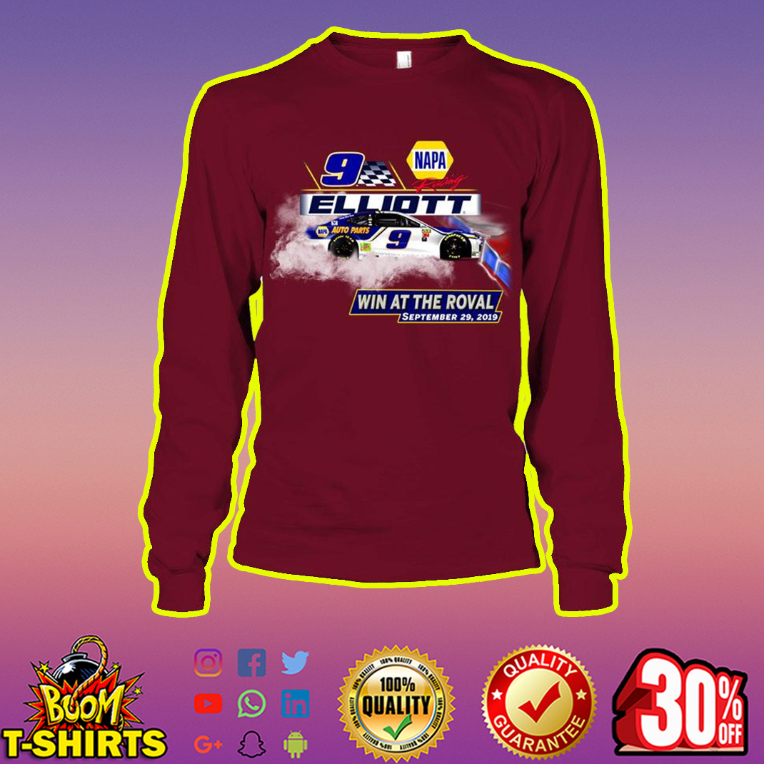 Elliott 9 Win At The Roval September 29 2019 longsleeve tee