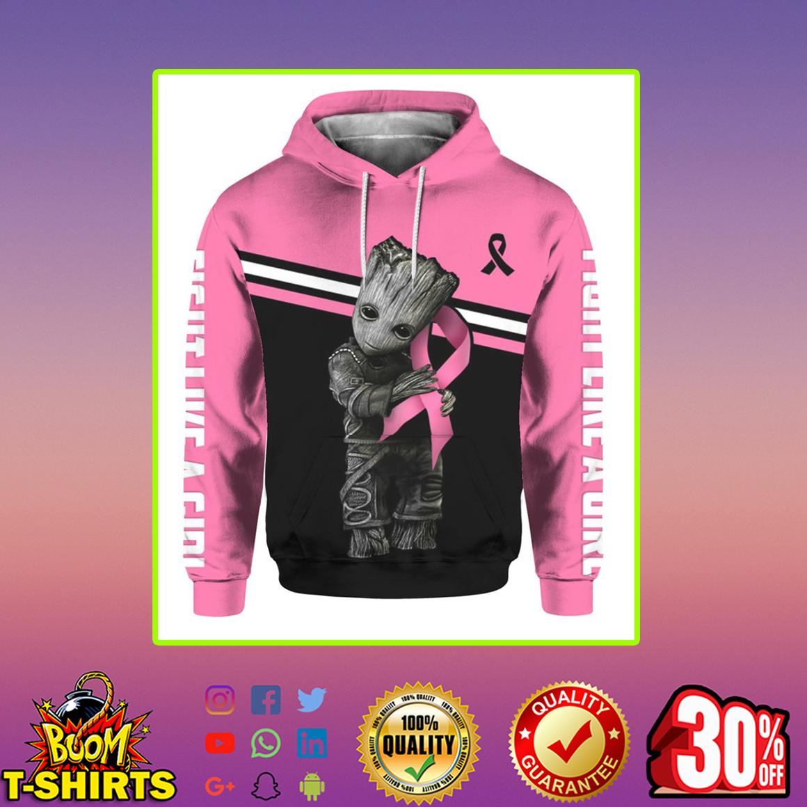 Groot Breast Cancer 3d hoodie