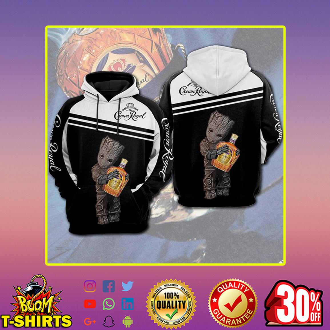 Groot Crown Royal 3d hoodie- back