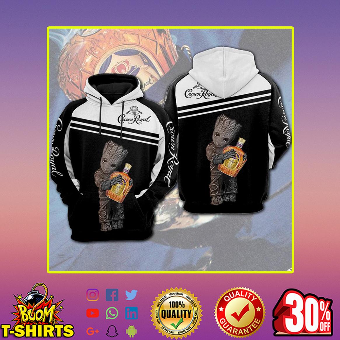 Groot Crown Royal 3d zip hoodie- back