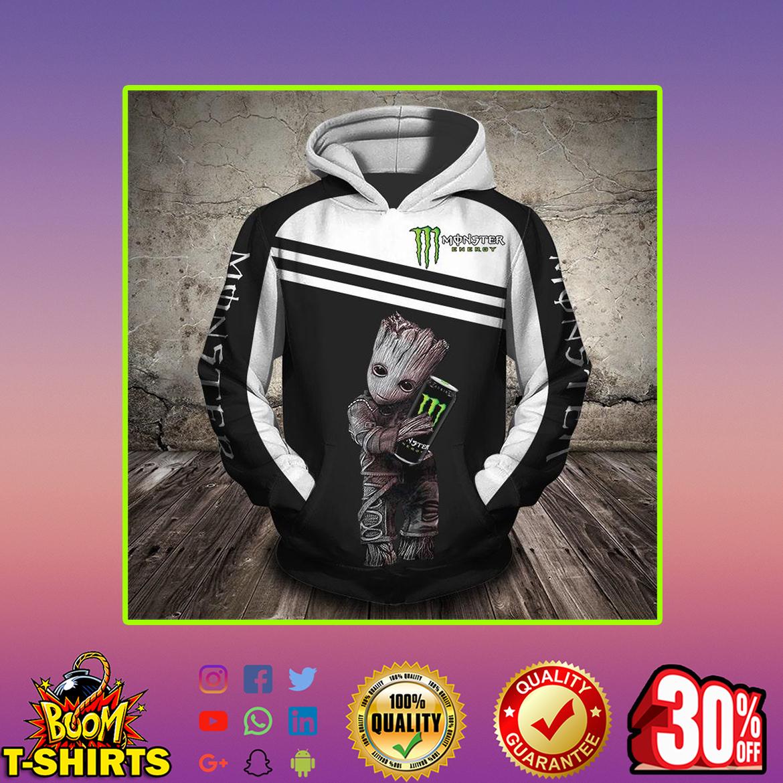 Groot hug Monster Energy 3d hoodie