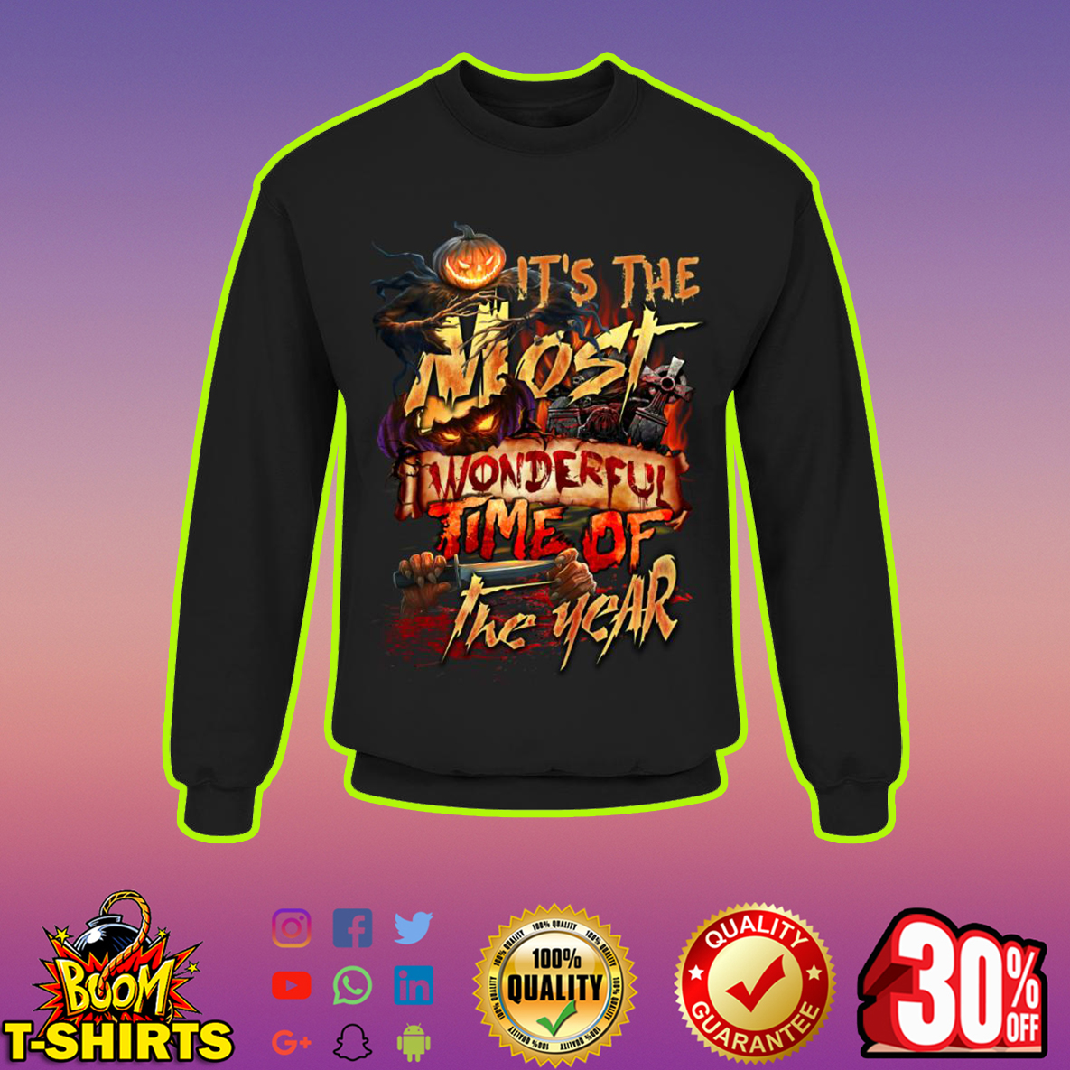 Halloween It's The Most Wonderful Time Of The Year sweatshirt
