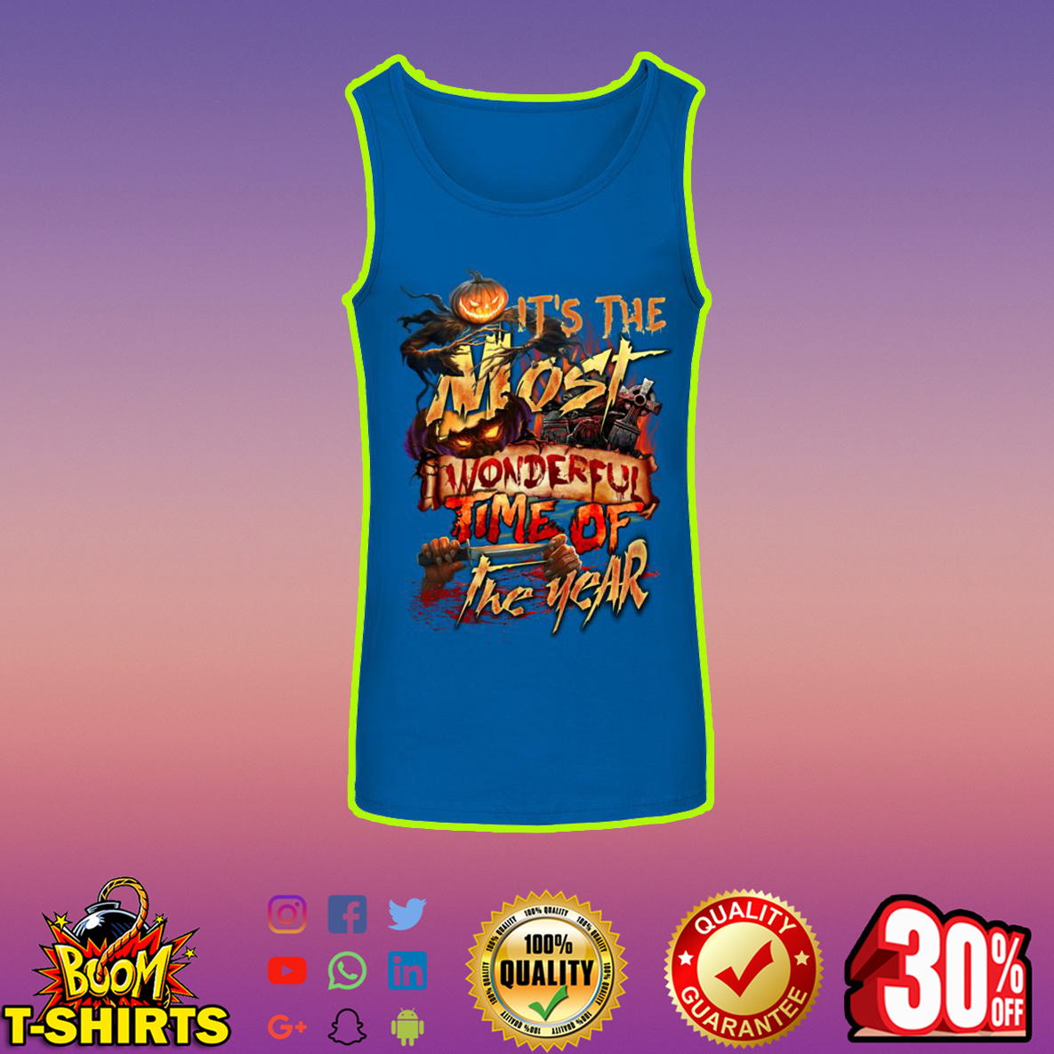 Halloween It's The Most Wonderful Time Of The Year tank top