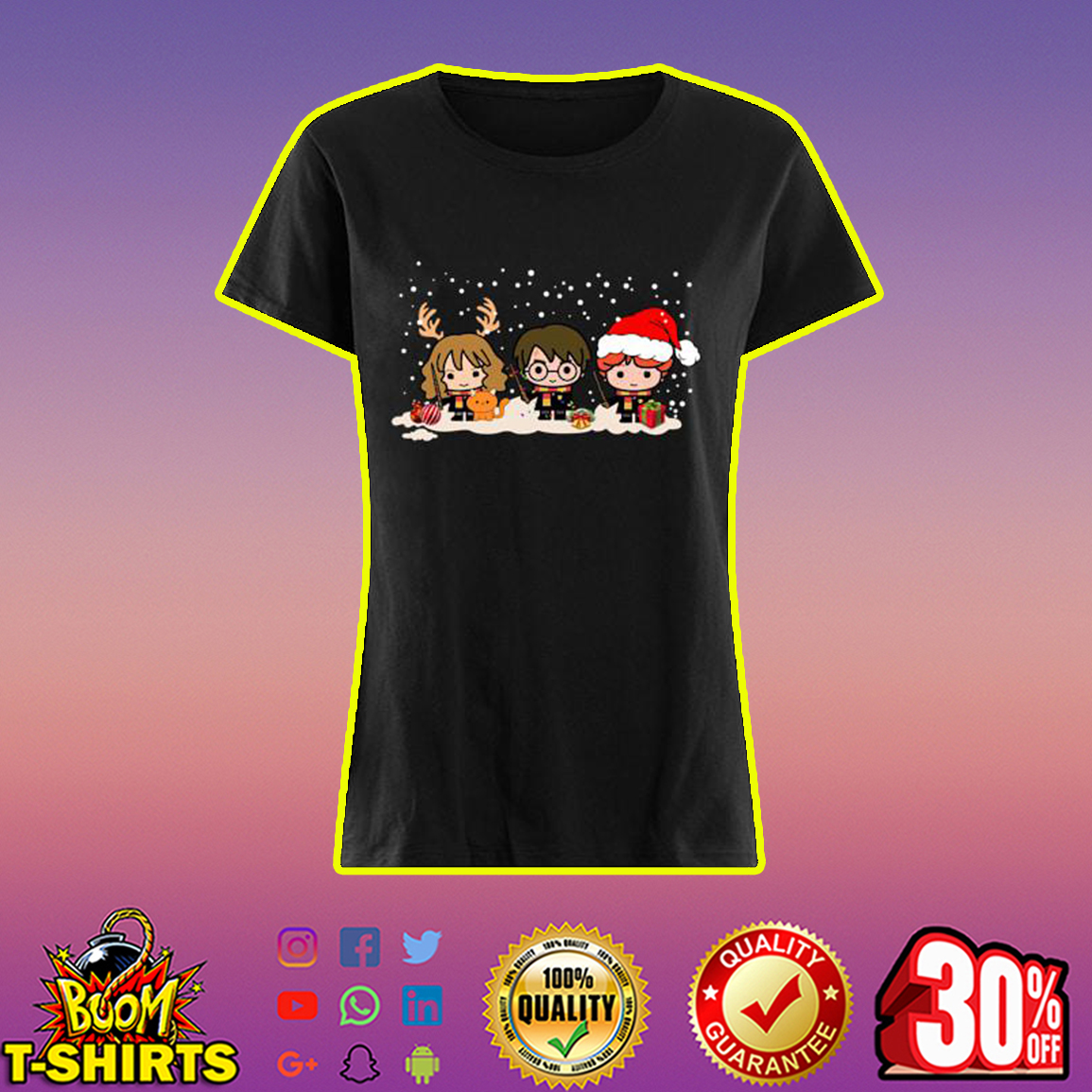 Harry Potter Hermione and Ron Christmas shirt