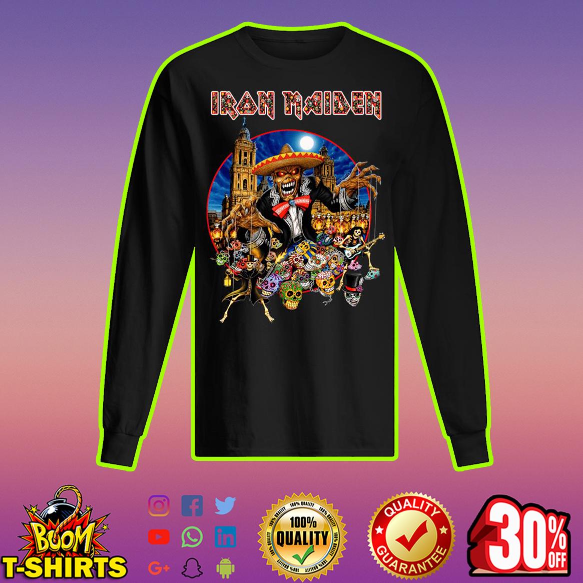 Iron Maiden Skull longsleeve tee