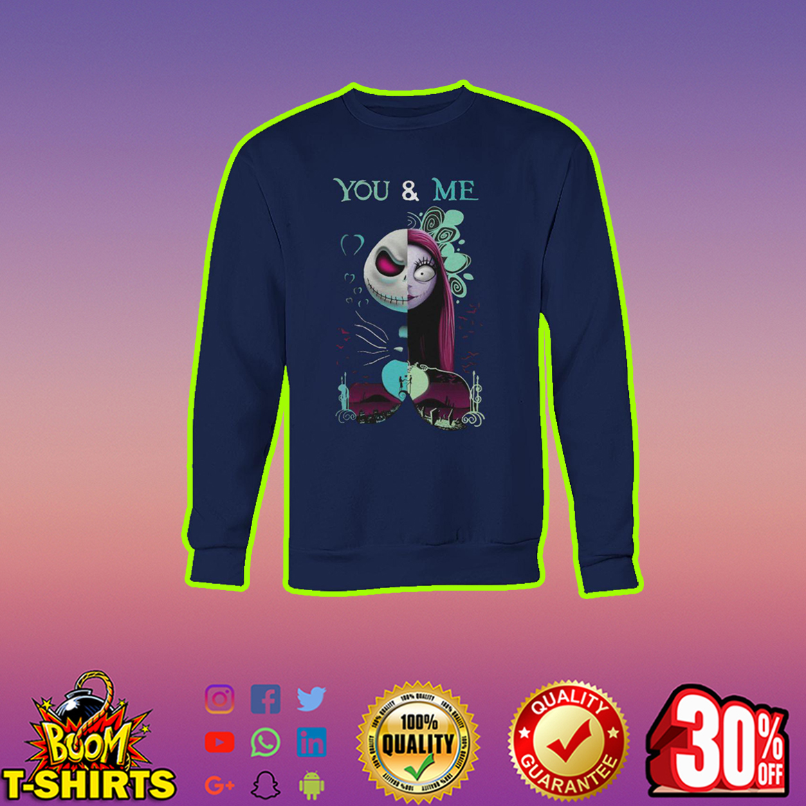 Jack Skellington and Sally You and Me sweatshirt