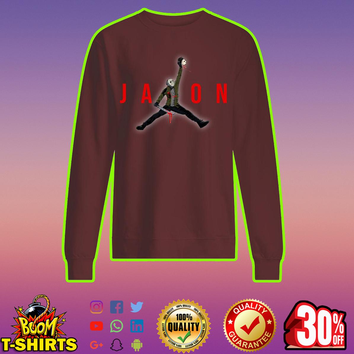 Jason Voorhees Jumpman Air Jordan sweatshirt