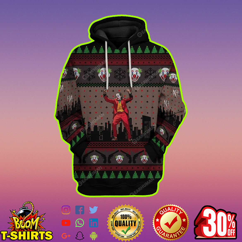 Joker 3D Full Print Christmas hoodie