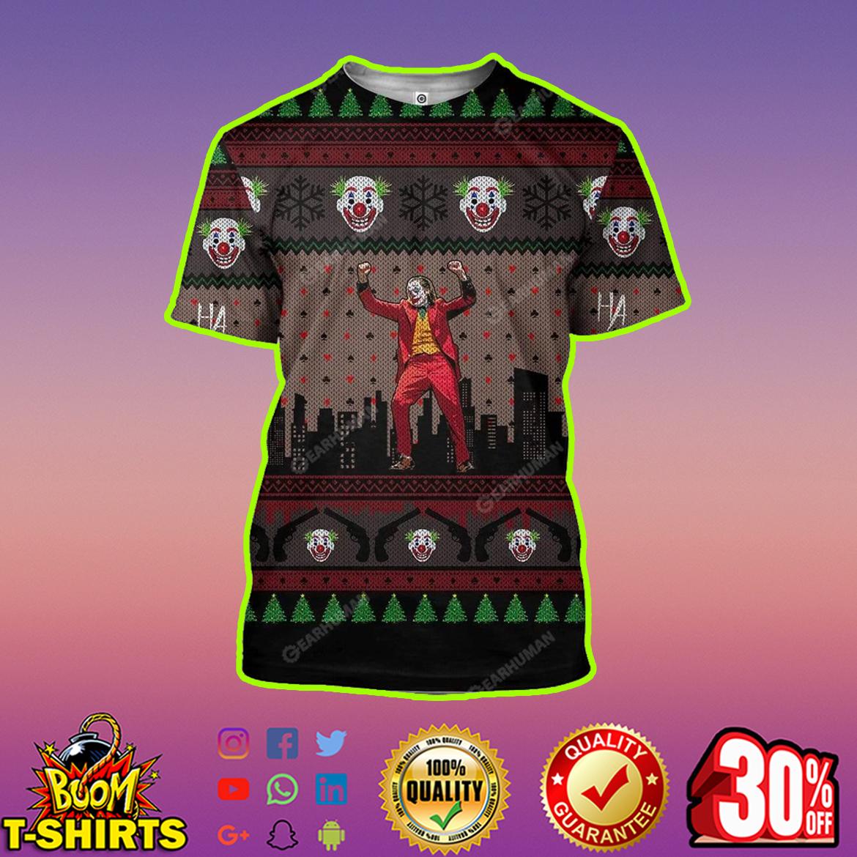 Joker 3D Full Print Christmas t-shirt