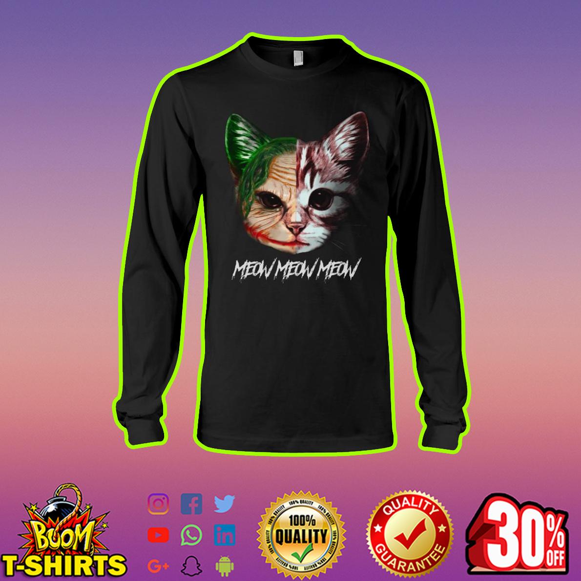Joker Cat Meow Meow Meow longsleeve tee