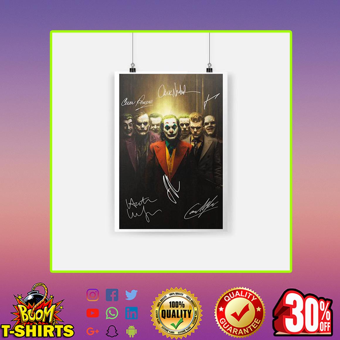 Joker Signature Poster- A3