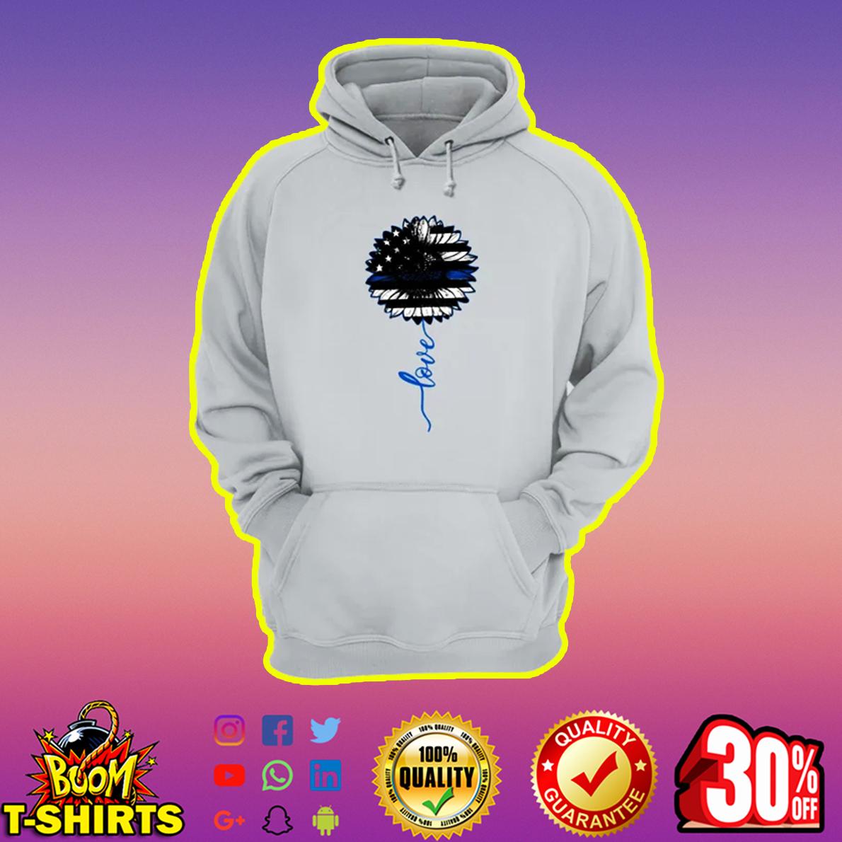 Love American Flag Sunflower hoodie