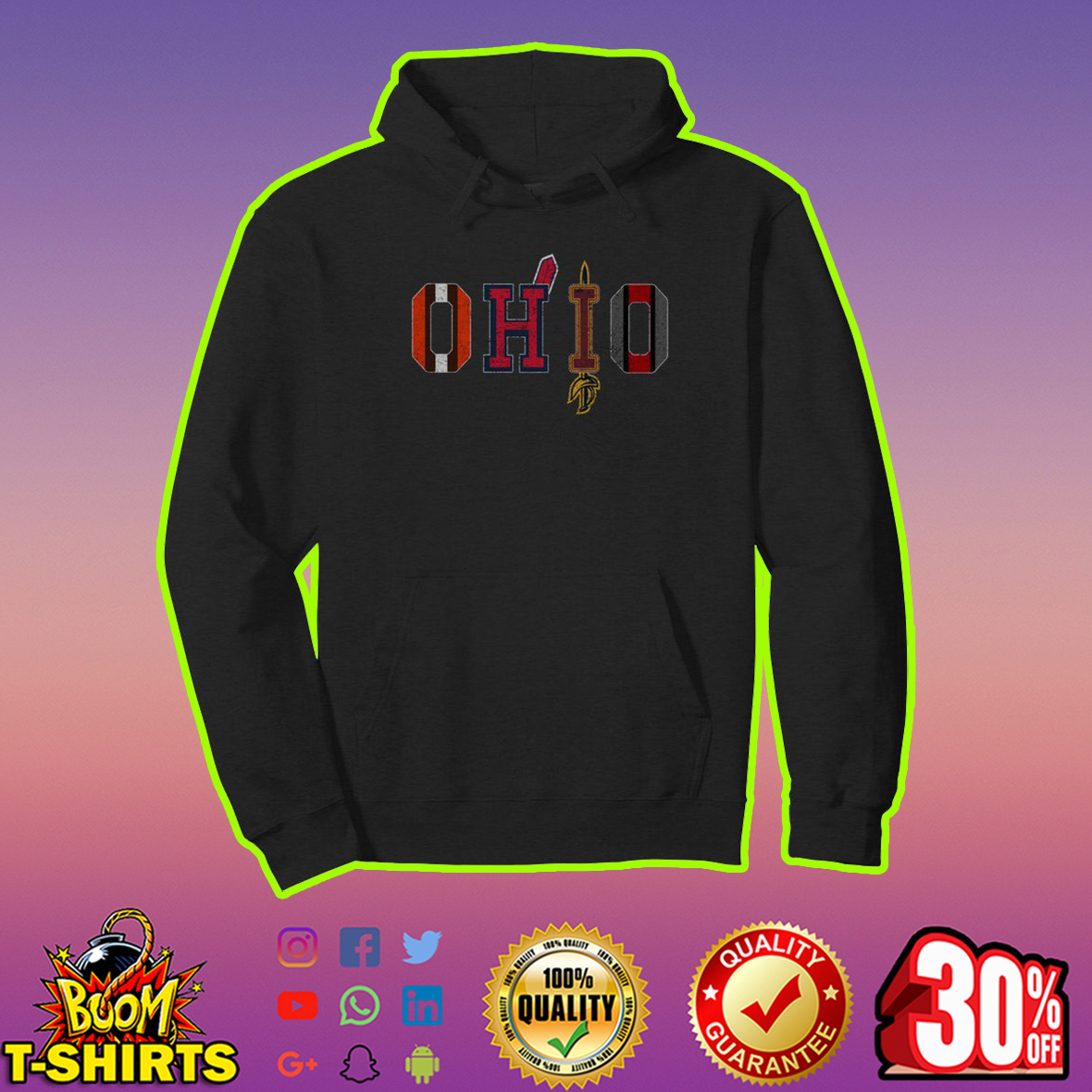 Ohio Teams Cleveland Browns Indians Cavaliers Ohio State hoodie