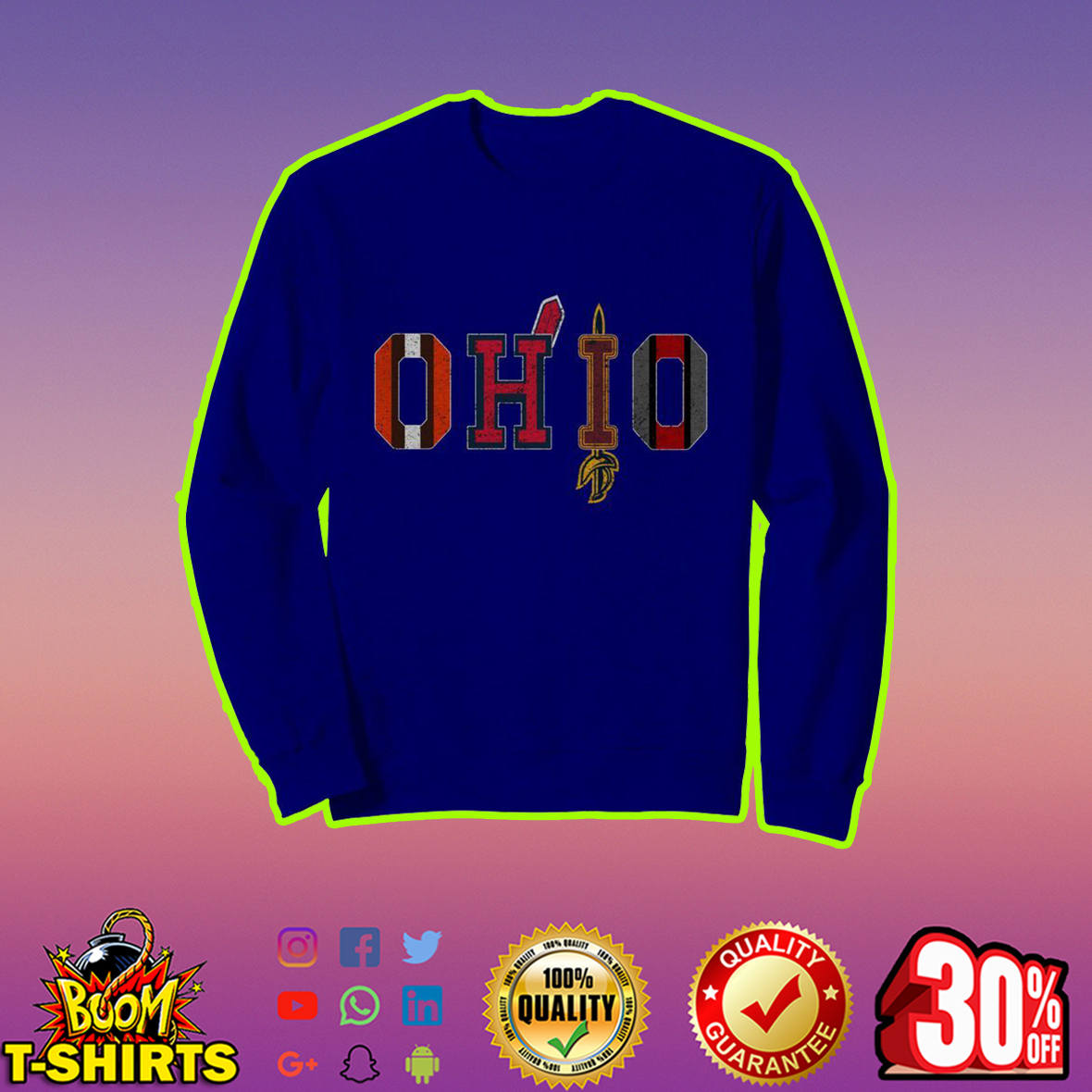 Ohio Teams Cleveland Browns Indians Cavaliers Ohio State sweatshirt