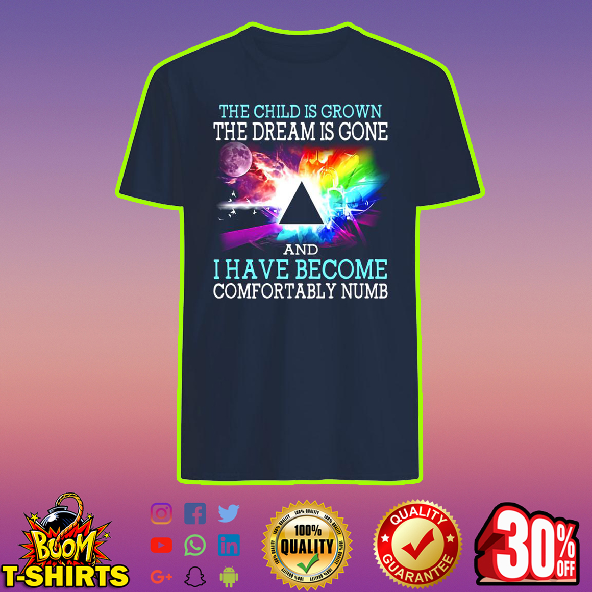 Pink Floyd The Child is Grown The Dream is Gone I Have Become Comfortably Numb shirt