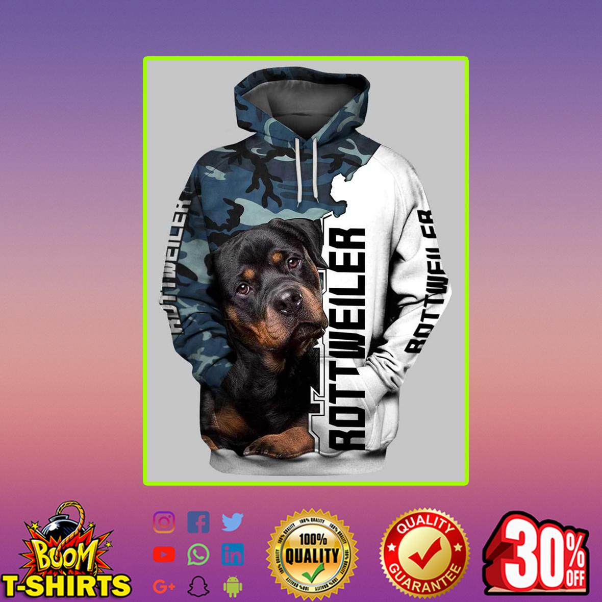 Rottweiler 3d hoodie