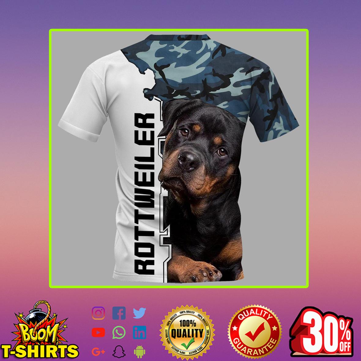 Rottweiler 3d shirt- back