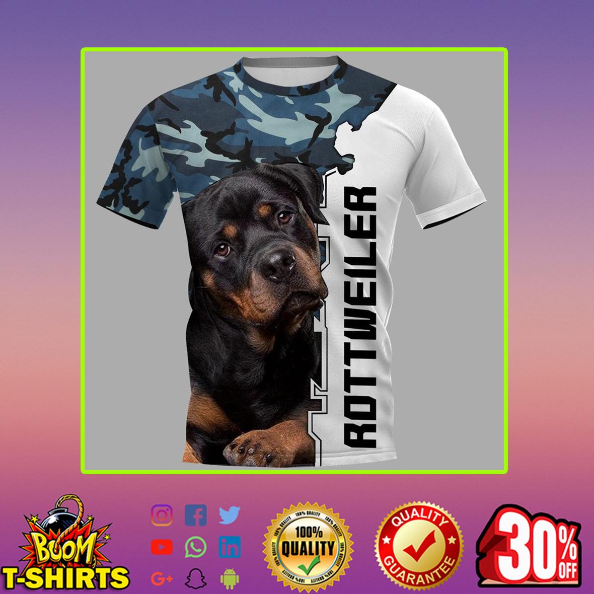 Rottweiler 3d shirt