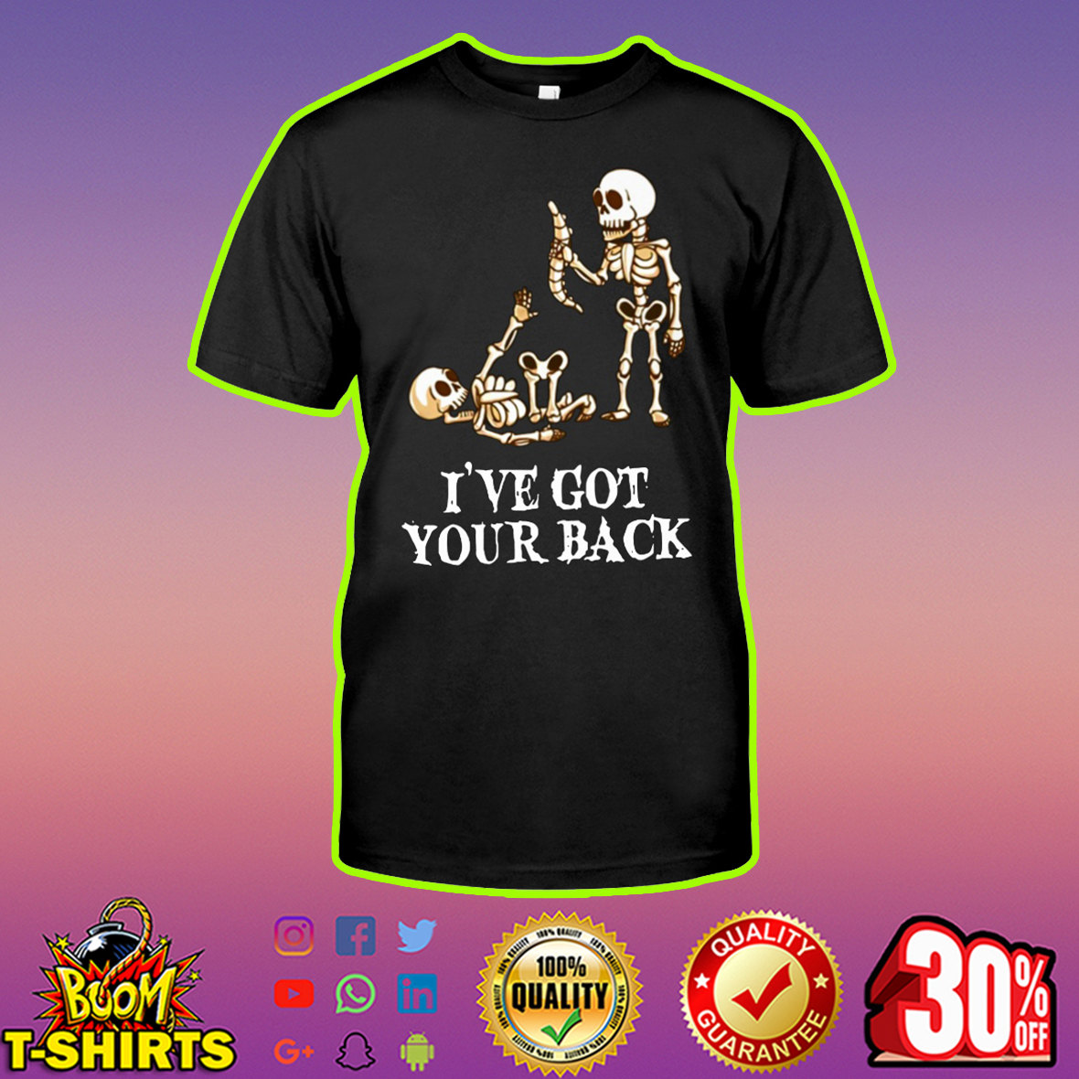 Skeleton I've got your back shirt