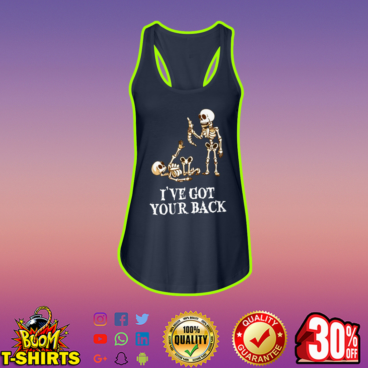 Skeleton I've got your back tank top