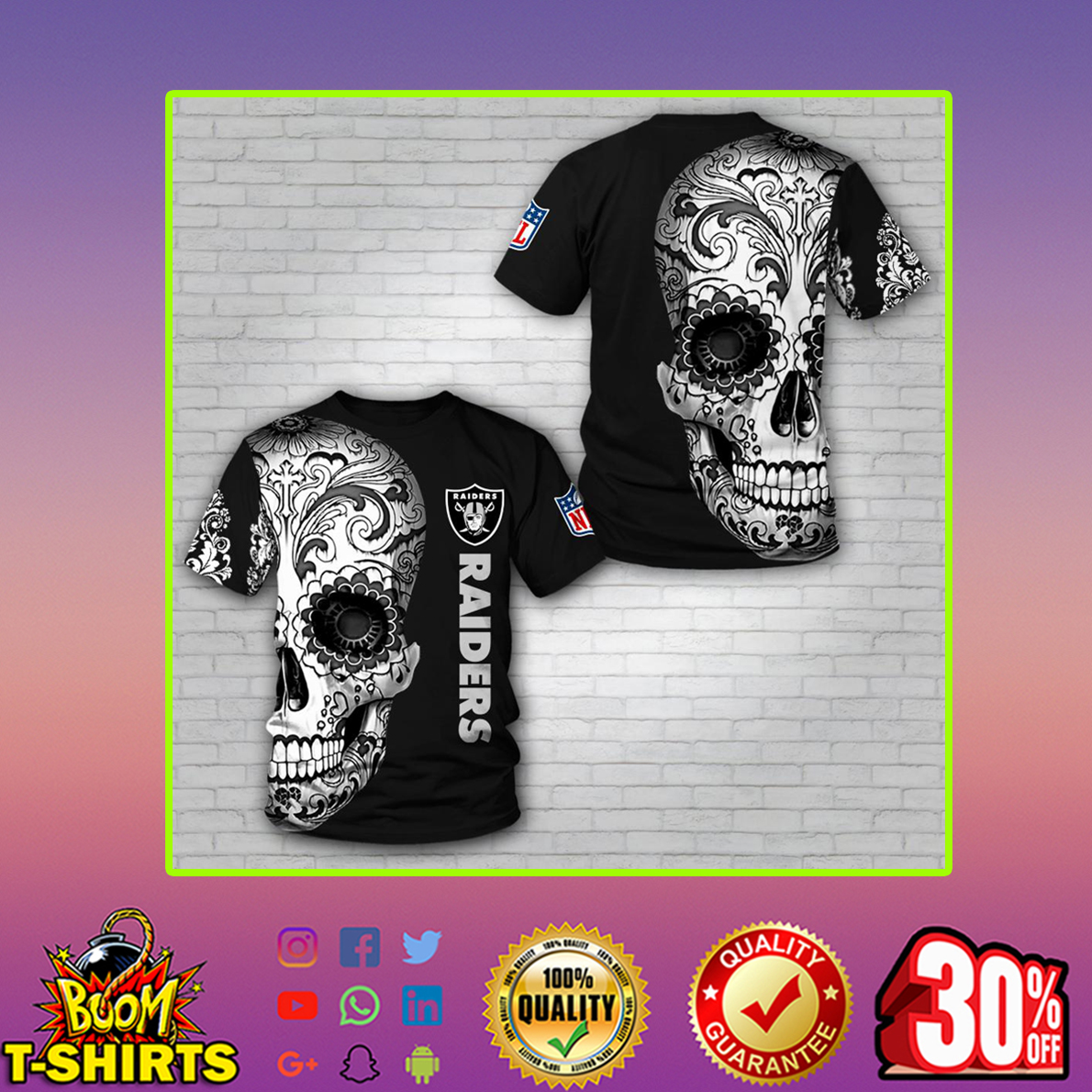 Skull Raiders 3d T-shirt