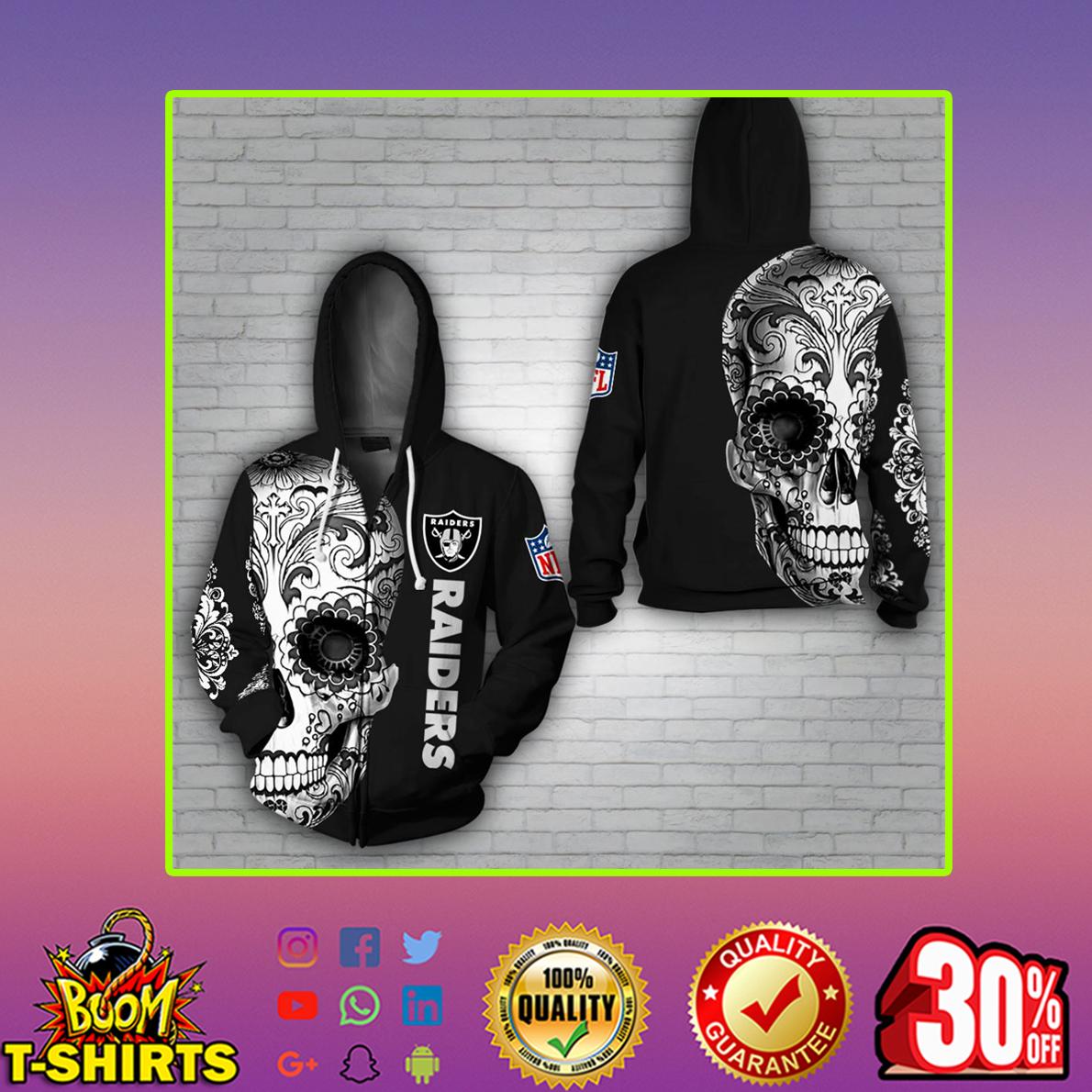 Skull Raiders 3d Zip hoodie
