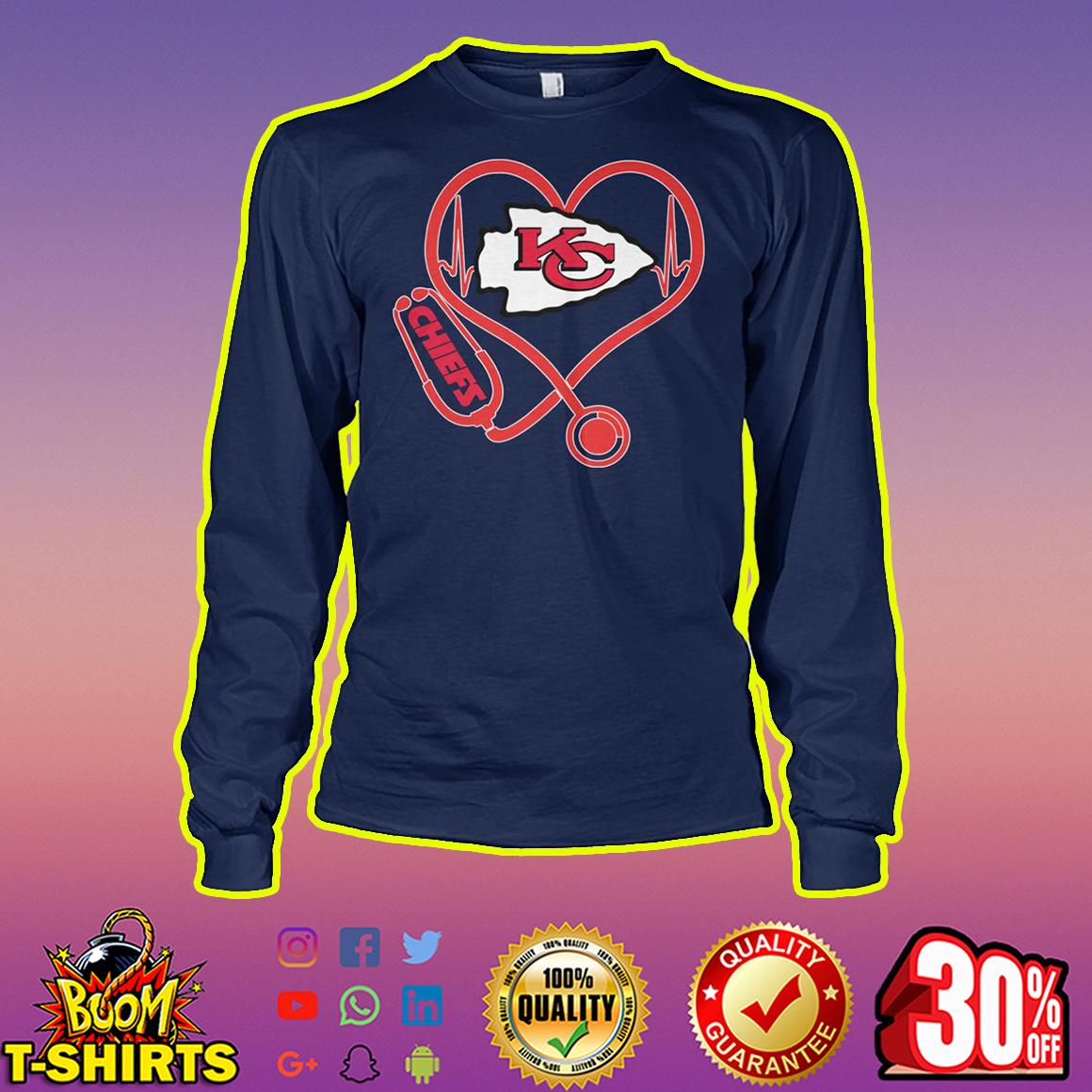 Stethoscope Kansas City Chiefs longsleeve tee