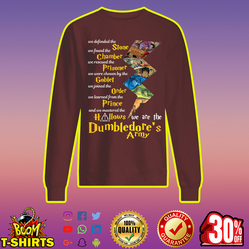 We defended the stone We found the chamber Dumbledore's army sweatshirt