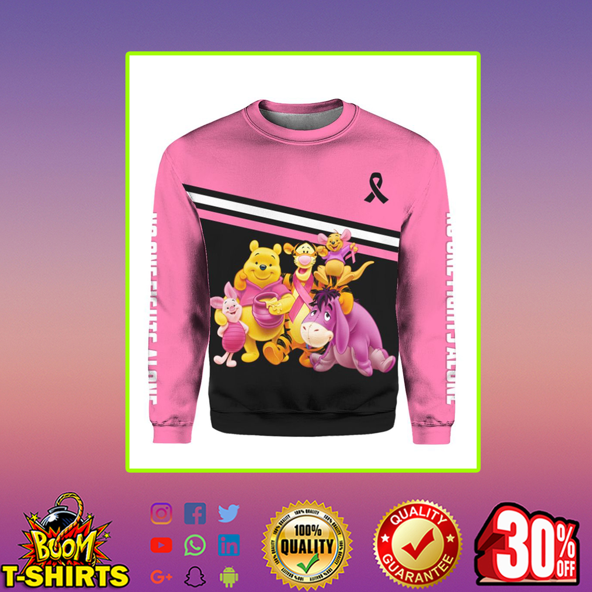 Winnie the Pooh Breast Cancer 3d sweatshirt
