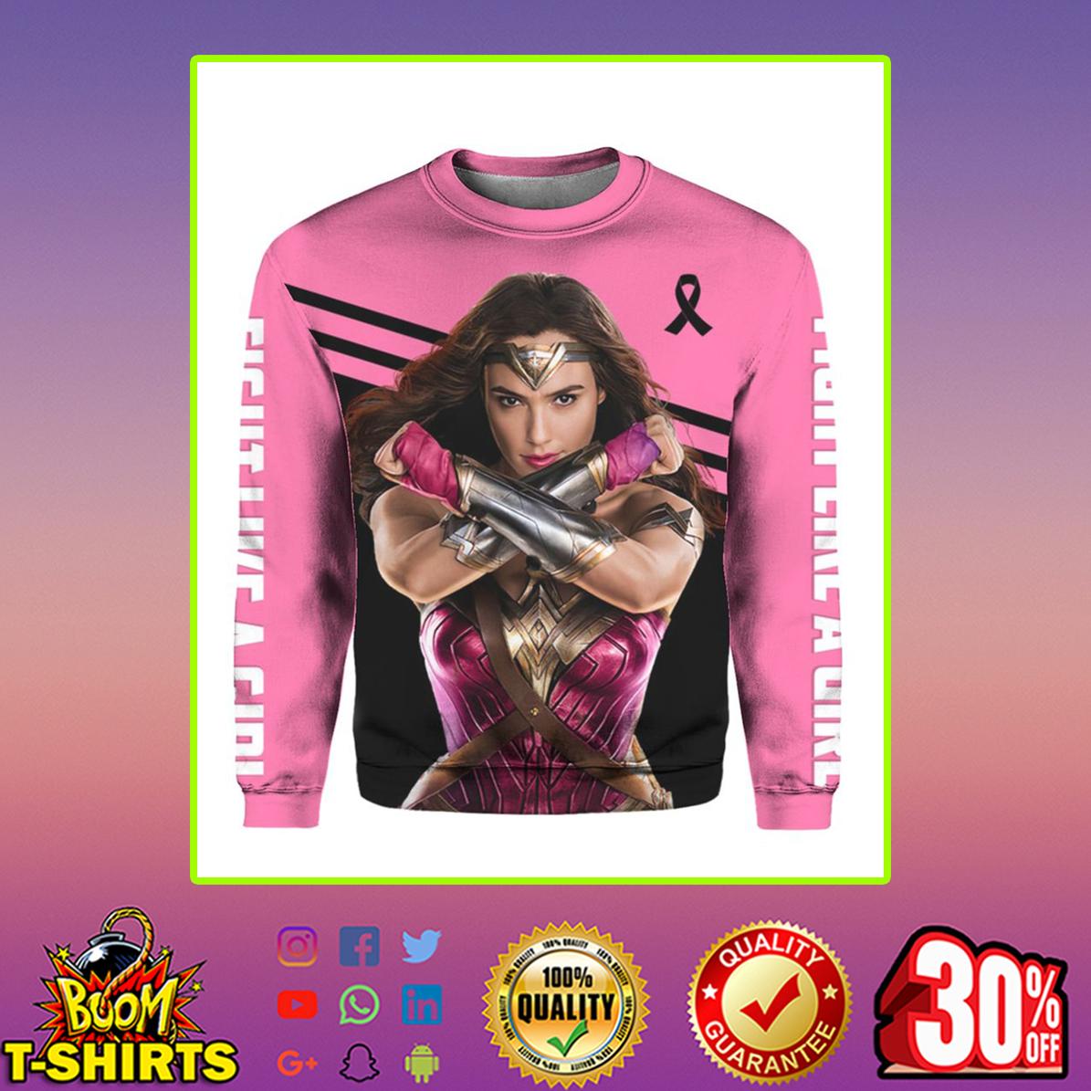 Wonder Woman Breast Cancer 3d sweatshirt
