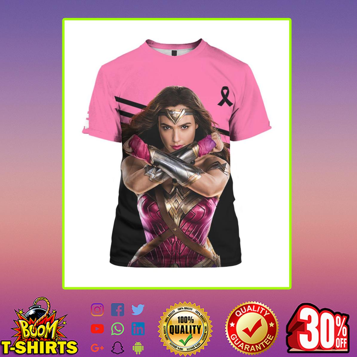 Wonder Woman Breast Cancer 3d t-shirt