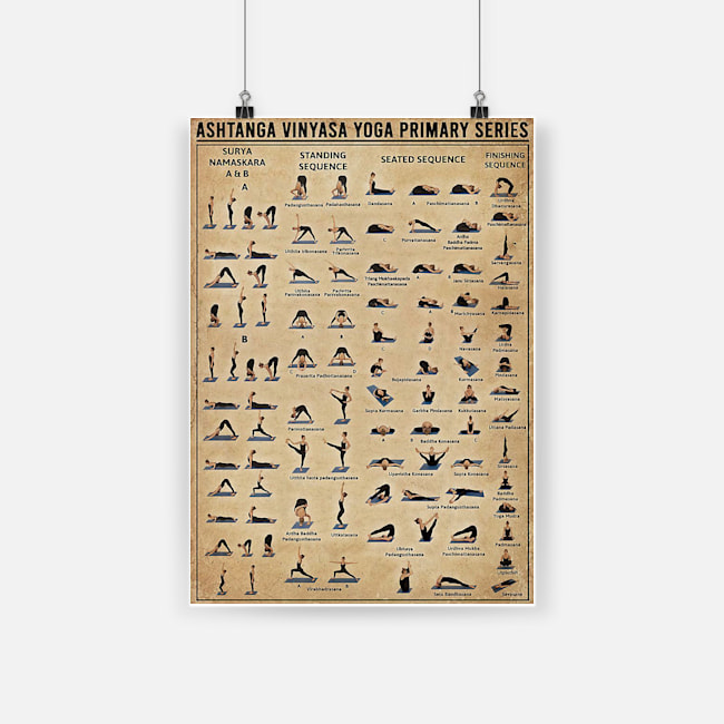 Ashtanga Vinyasa Yoga Primary Series Poster