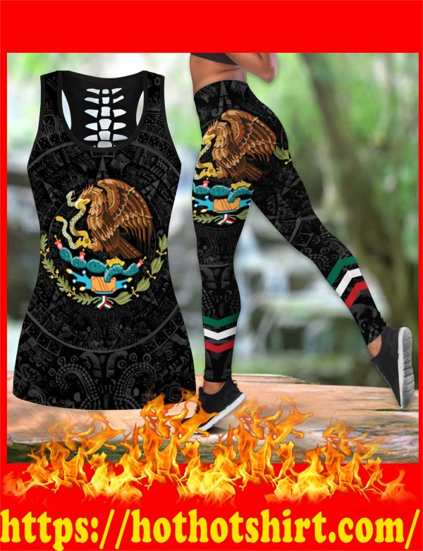 Aztec Mexico hollow tank top and legging