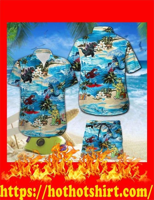 Godzilla hawaiian shirt and short