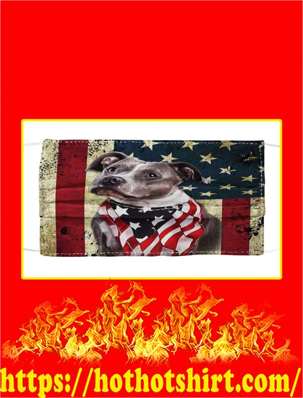 Pit bull american flag face mask