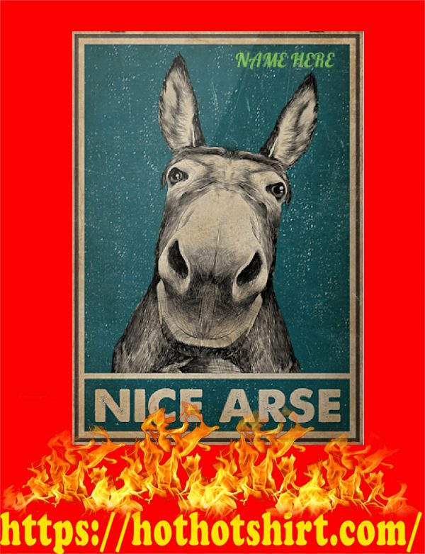 Custom Name Donkey Nice Arse Poster
